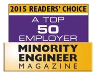 2015 Readers Choice, A Top 50 Employer, Minority Engineer Magazine