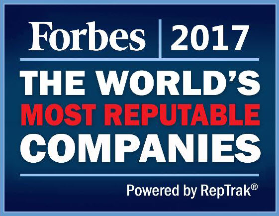 2017 Award for Kellogg's Forbes powered by Reputation Institute, World's Most Reputable Companies