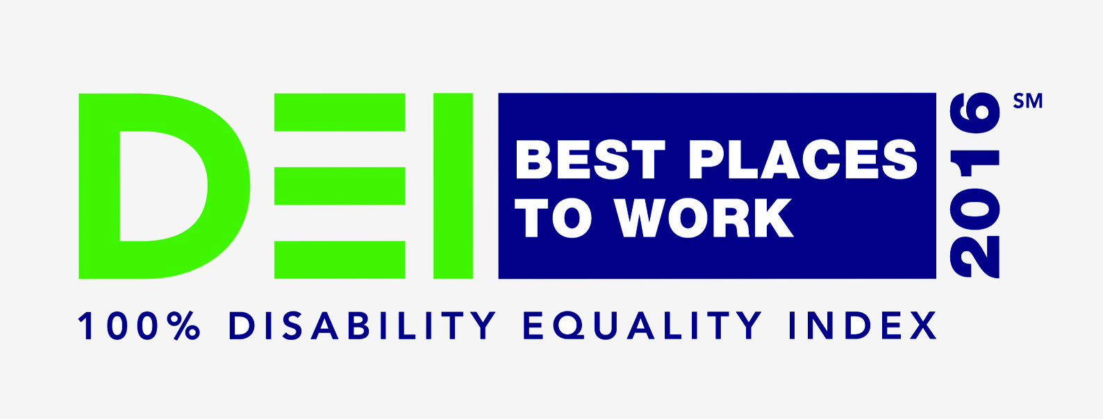 100 percent disability equality index. 2016 best places to work.