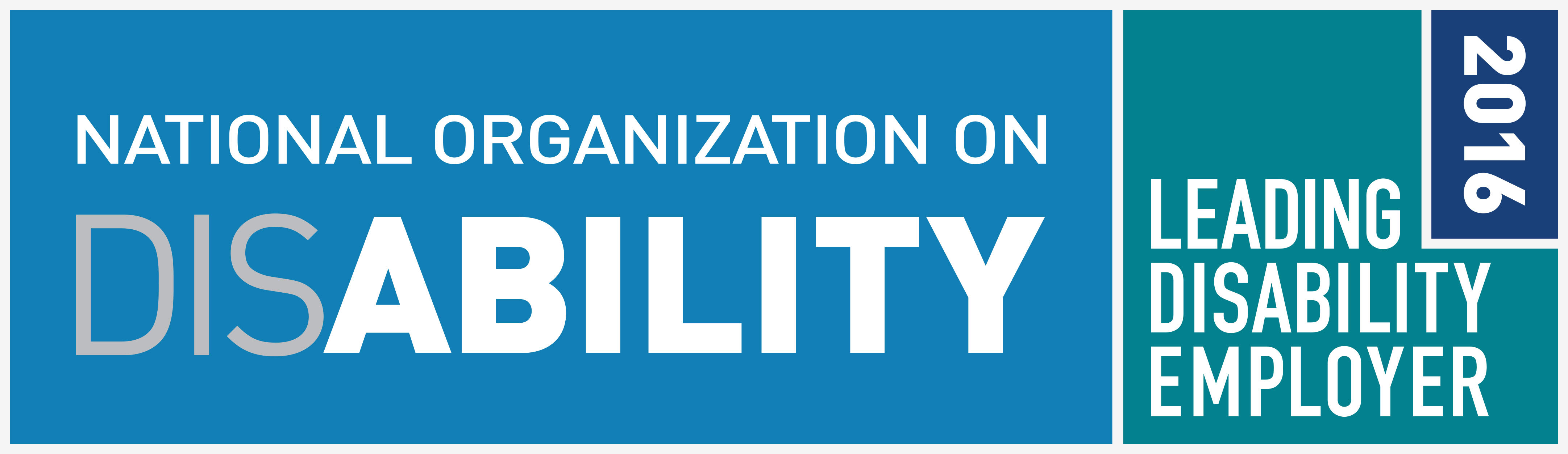National organization on disability. 2016 leading disability employer.