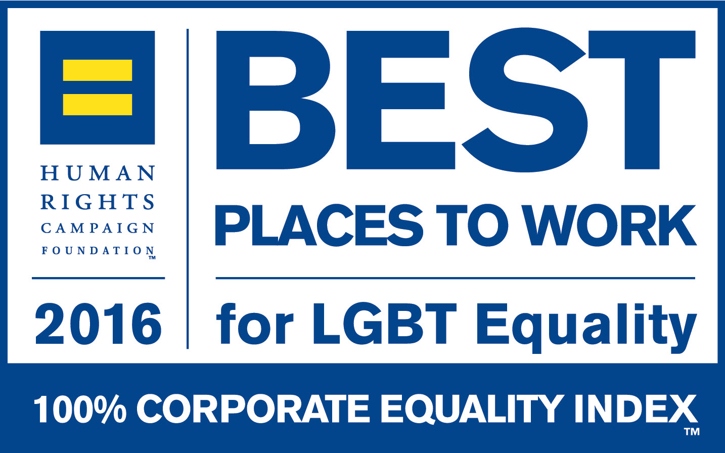100% Corporate Equality Index Best Places To Work For LGBT Equality 2016